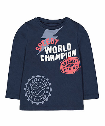 Mothercare Navy Speedy Champion T-Shirt