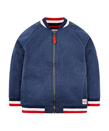 Mothercare Blue Sweat Bomber Jacket
