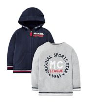 Mothercare Sports Star Sweat Top And Hoodie