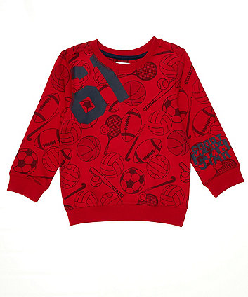 Red Ball Sport Sweat Top