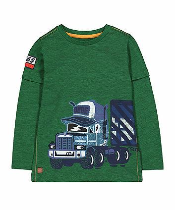 Green Truck Mock Layer T-Shirt