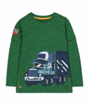 Green Truck Mock Layer T-Shirt