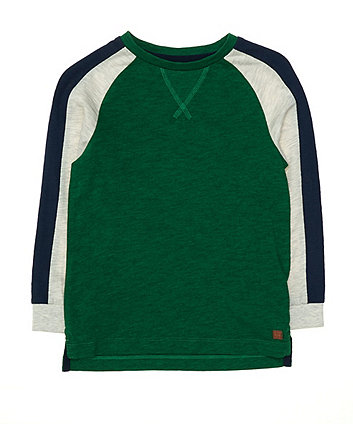 Mothercare Green Contrast Sleeve T-Shirt