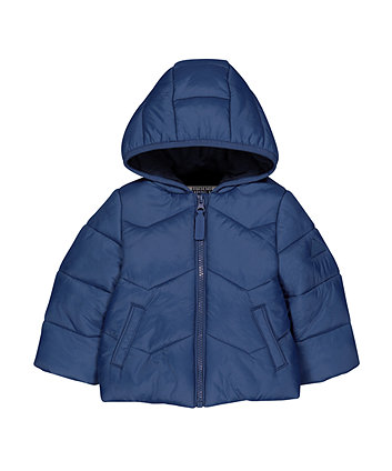 Blue Padded Fleece-Lined Jacket