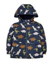 Navy Dinosaur Fleece-Lined Mac