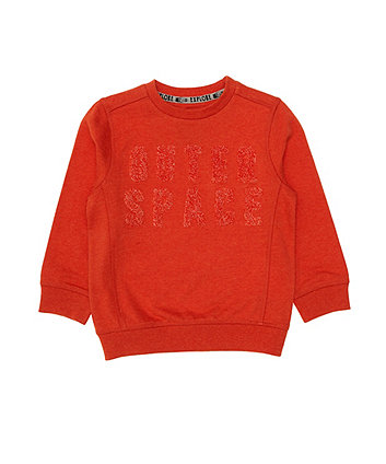 Mothercare Orange Outer Space Sweat Top