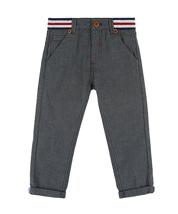 Mothercare Grey Herringbone Chino Trousers