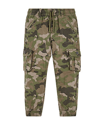 Camouflage Jersey-Lined Cargo Trousers