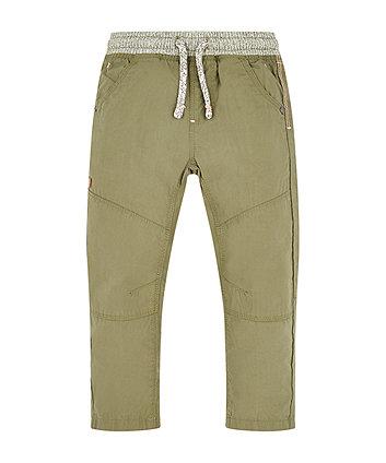 Khaki Poplin Trousers