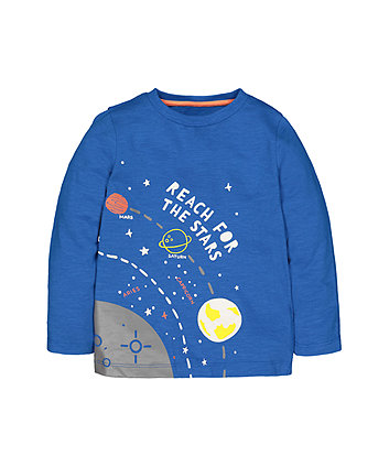 Blue Reach For The Stars T-Shirt