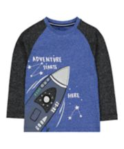 Blue Raglan Rocket T-Shirt