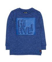 Blue Hi Five Top
