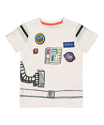 Mothercare Grey Space Robot T-Shirt