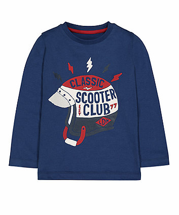 Mothercare Blue Scooter Club T-Shirt