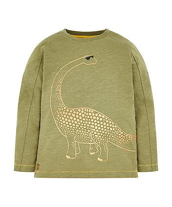 Mothercare Khaki Dinosaur T-Shirt