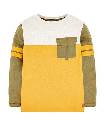 Mothercare Green And Yellow Cut And Sew T-Shirt