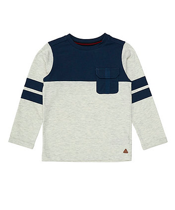 Mothercare Navy Cut And Sew T-Shirt