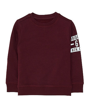 Mothercare Original 61 Burgundy Sweat Top