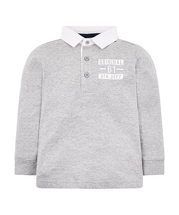 Mothercare Grey Marl Rugby Top