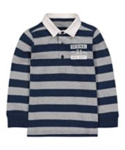 Mothercare Navy Striped Rugby Top
