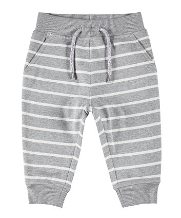 Mothercare Grey And White Stripe Joggers