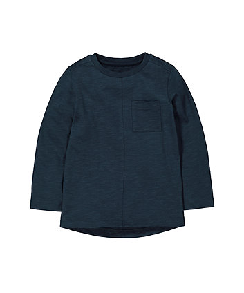 Mothercare Navy Pocket T-Shirt