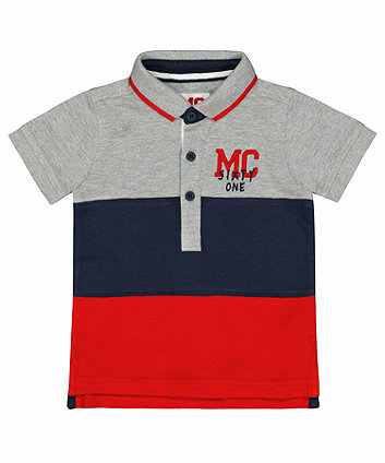 Mothercare Colour Block Pique Polo Shirt