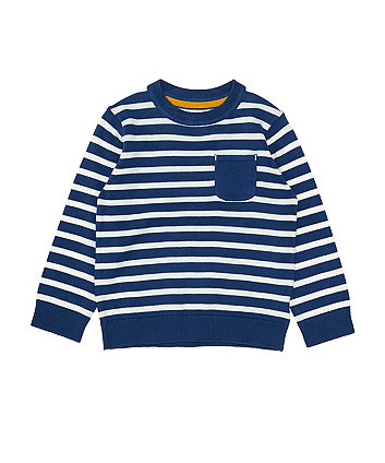 Mothercare Blue Striped Knitted Jumper