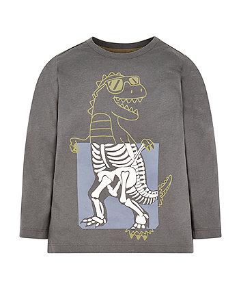 Grey Dinosaur T-Shirt