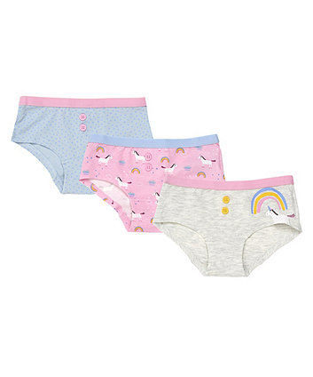 Mothercare Unicorn Hipsters - 3 Pack