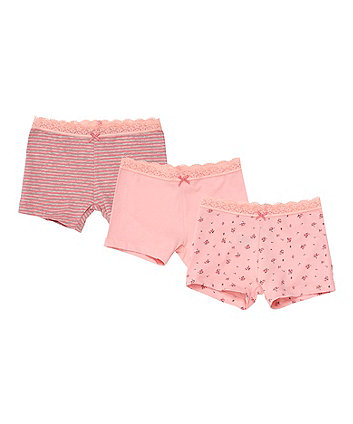 Mothercare Bunny Shorts Briefs - 3 Pack