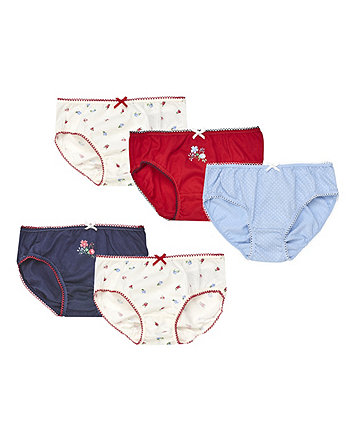 Heritage Floral Briefs - 5 Pack
