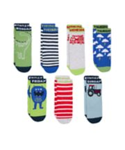 Mothercare Days Of The Week Socks - 7pack
