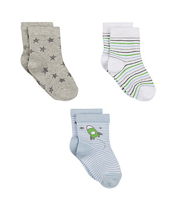 Mothercare Rocket Socks - 3 Pack