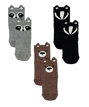 Mothercare Animal Socks - 3 Pack