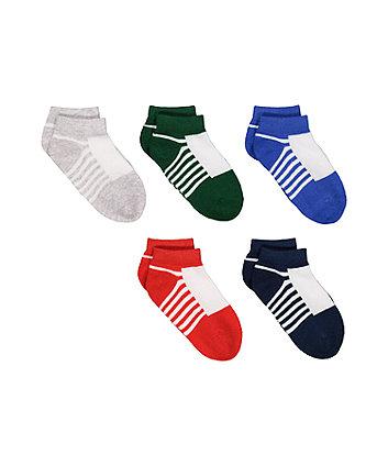 Trainer Liner Socks - 5 Pack