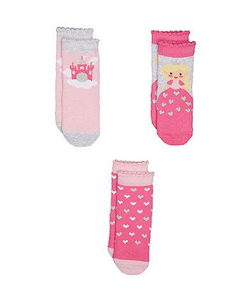 Mothercare Princess Socks - 3pack