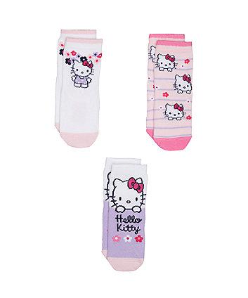 Mothercare Hello Kitty Socks - 3 Pack