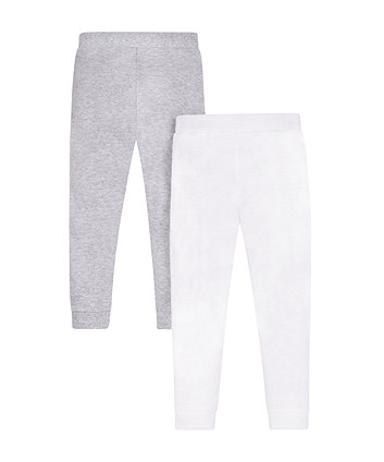 Grey And White Thermal Long Johns - 2 Pack