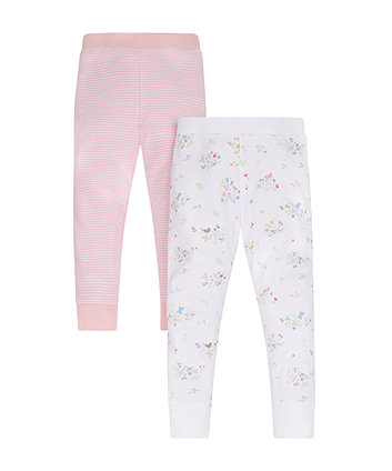 Floral And Striped Thermal Long Johns - 2 Pack