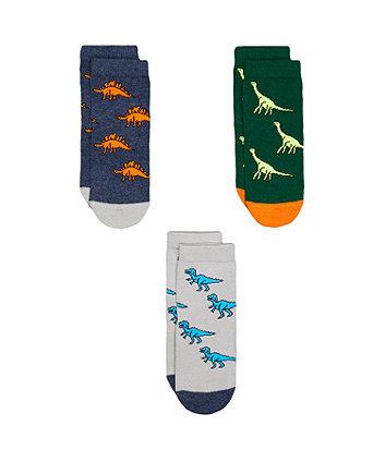Mothercare Dinosaur Socks - 3pack