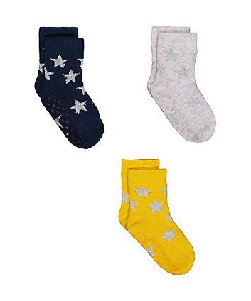 Mothercare Grey Star Socks
