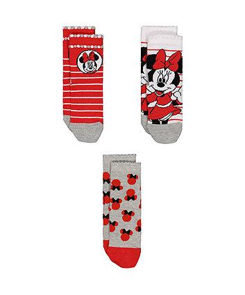 Disney Minnie Mouse Socks - 3 Pairs
