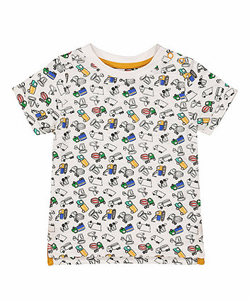 Mothercare White Truck T-Shirt