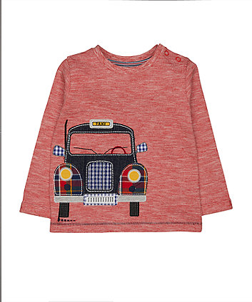 Mothercare Red Taxi Applique T-Shirt