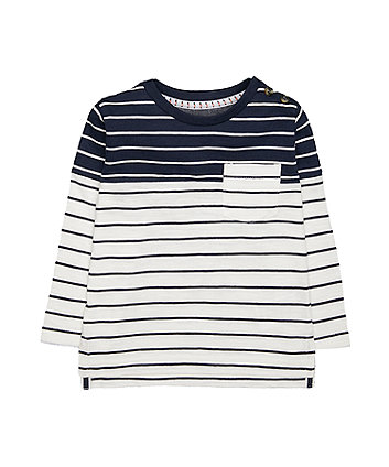 Heritage Navy And White Stripe T-Shirt