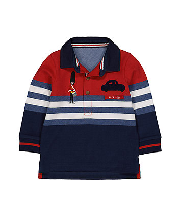 Little Soldier Colour Block Polo Shirt