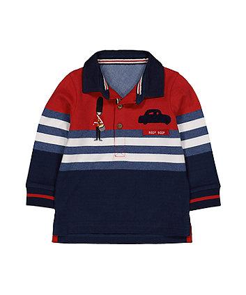 Mothercare Little Soldier Colour Block Polo Shirt