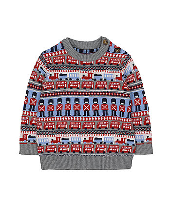Mothercare Fairisle Crew Neck Jumper
