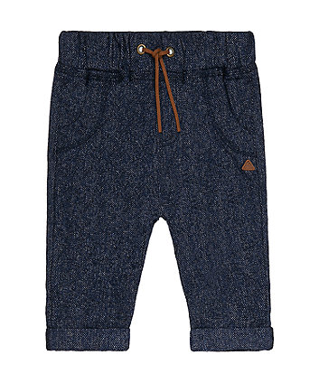 Mothercare Blue Herringbone Trousers